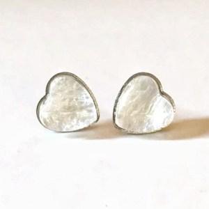 heart breastmilk stud earrings