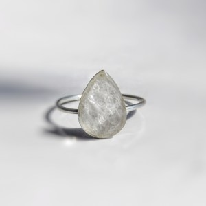 classic drop solid sterling breastmilk ring