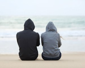 Couple acting distant