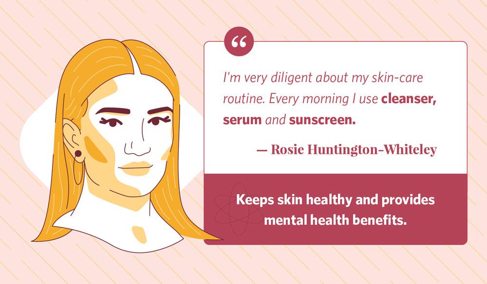 rosie huntington-whitely's morning routine