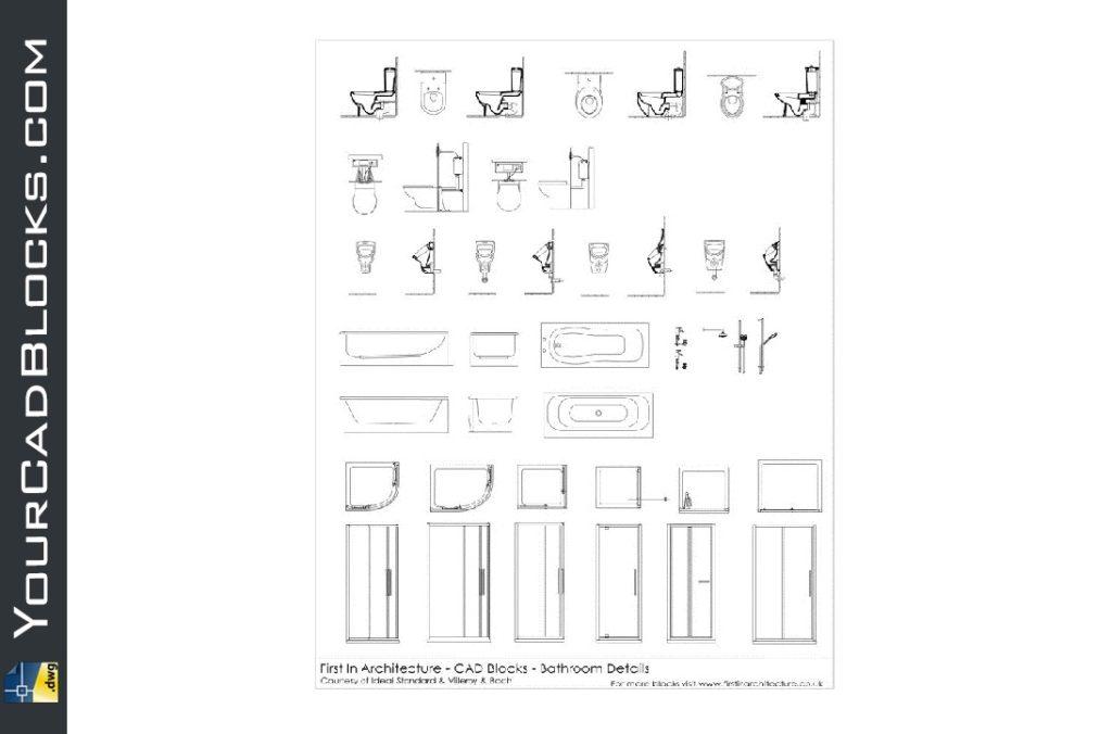 Bathroom Detail Blocks Drawing Dwg Free Cad Blocks