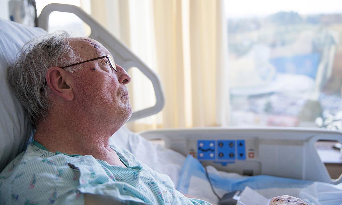 Veteran in the hospital