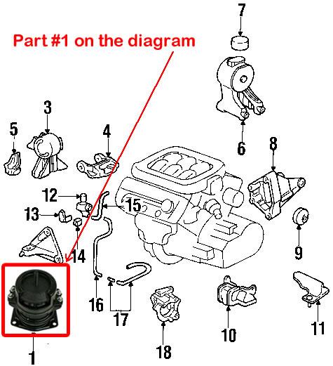 Engine Motor Mounts 2000 Acura Tl Transmission Diagram