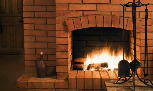 Masonry-Wood-burning-Fireplace