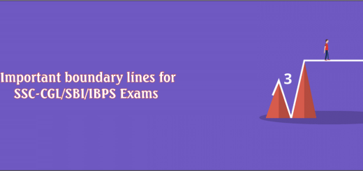 Important Boundary lines for SSC-CGL