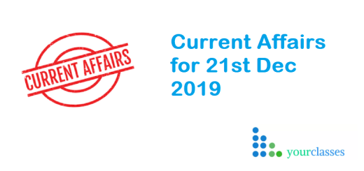 Current Affairs 2019