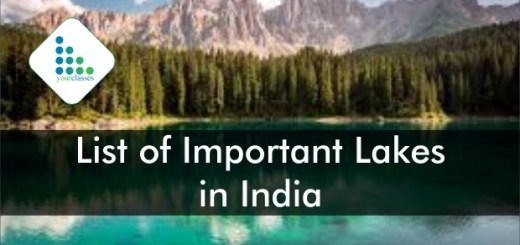 Updated List of Important Lakes in India SSC CGL