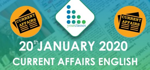 20 Jan Current Affairs in English