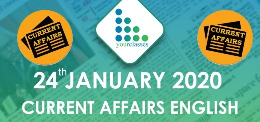 24 Jan Current Affairs in English