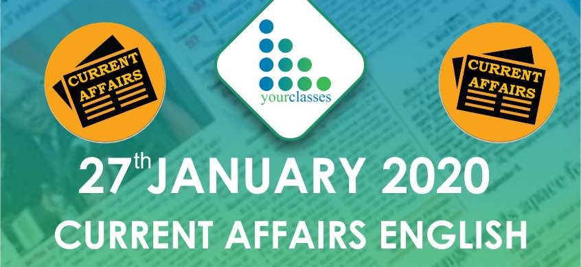 27 Jan Current Affairs in English