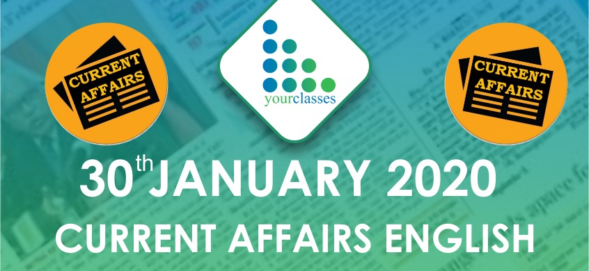 30 Jan Current Affairs in English