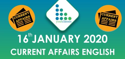 16 Jan Current Affairs  Latest Update in English