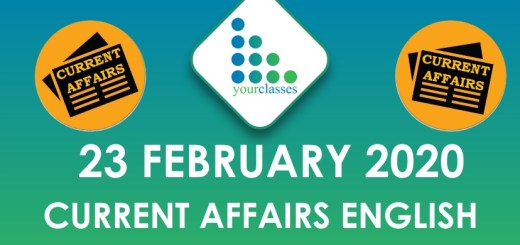 23 February Current Affairs in English