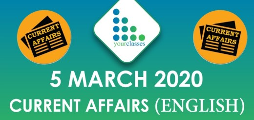 5 March Current Affair 2020 in English