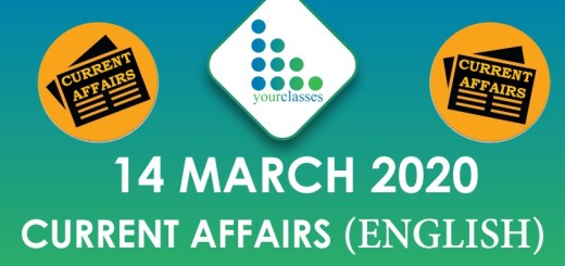 14 March Current Affairs 2020 in English