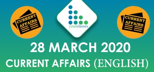28 March Current Affairs 2020 in English