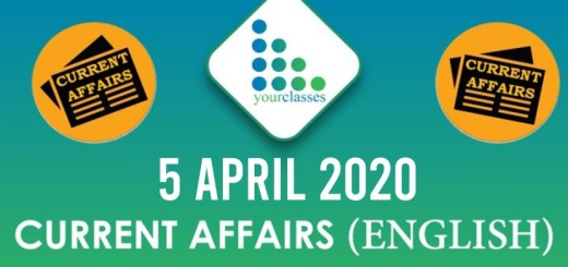 5 April Current Affairs 2020 in English