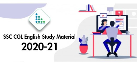 SSC CGL English Study Material 2020-21 | SSC CGL Notes For Exam
