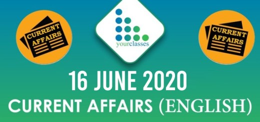 16 June Current Affairs 2020 in English