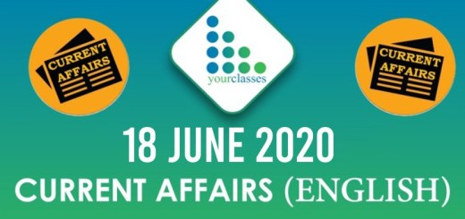 18 June Current Affairs 2020 in English