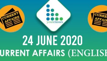24 June Current Affairs 2020 in English
