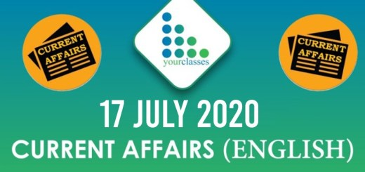 17th July Current Affairs 2020 in English