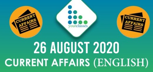 26 August 2020 Daily Current Affairs English