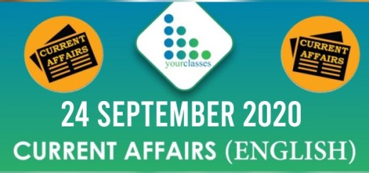 24th September 2020 Daily Current Affairs
