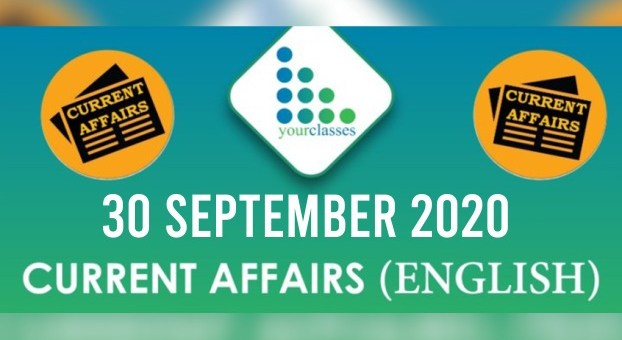 30th September 2020 Daily Current Affairs