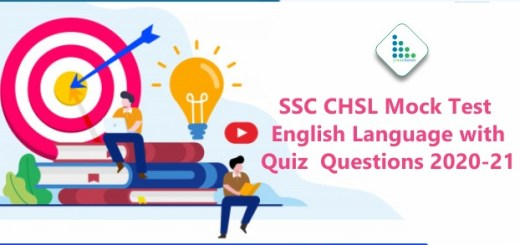 SSC CHSL Mock Test English Language with Quiz Questions 2020-21