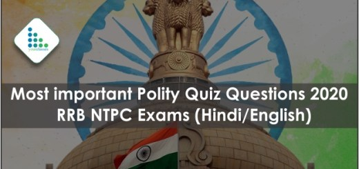 Most important Polity Quiz Questions 2020 RRB NTPC Exams (Hindi/English)