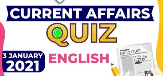 Daily Current Affairs 3rd January 2021 in English