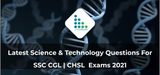 Latest Science & Technology Questions For SSC CGL | CHSL Exams 2021
