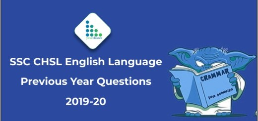 SSC CHSL English Language Previous Year Questions 2019-20