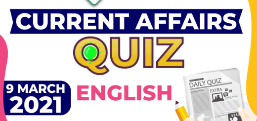 Daily Current Affairs 9 March 2021 English