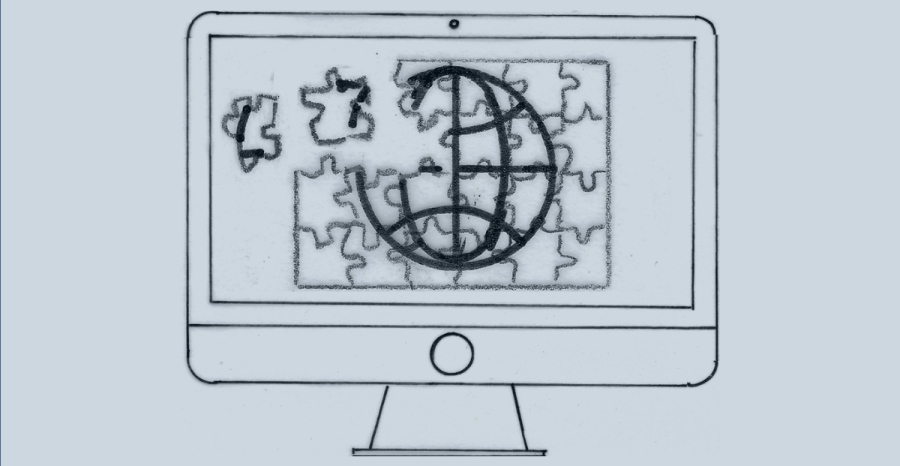 Image of jigsaw of WWW icon to illustrate that you can build your own interior design website