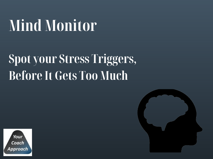 Image of YourCoachApproach Mind Monitor. A great tool for interior design business owners to spot their stress triggers