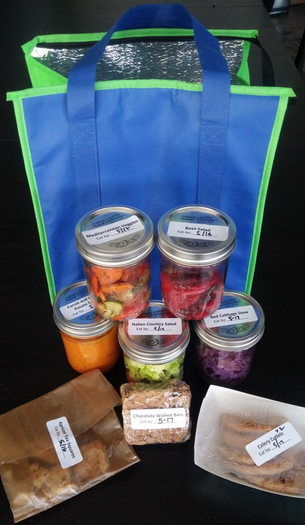 Meal Service Bag and Jars