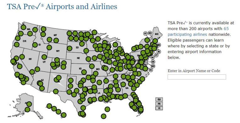 TSA PreCheck is available at more than 200 airports.