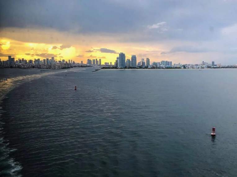 Photo of Miami in the distance