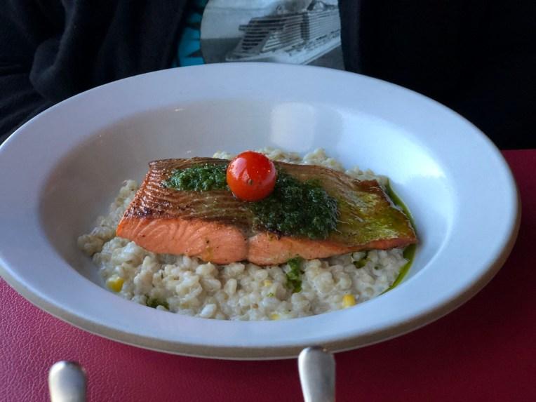 Salmon dish at Butcher's Cut