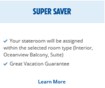 Picture of Super Saver on Carnival's website