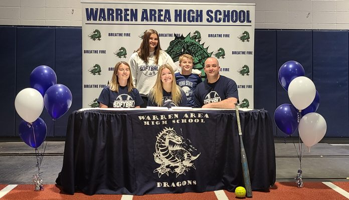Warren's Stuart Makes it Official, Signs With Penn State DuBois to Play Softball