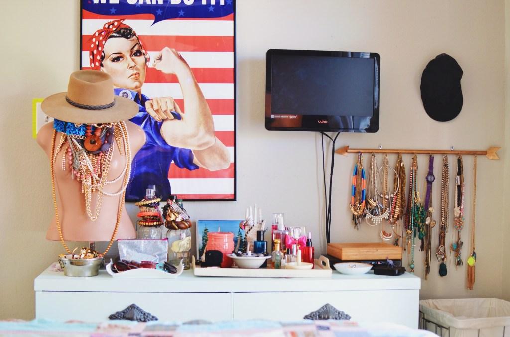 Dresser set up