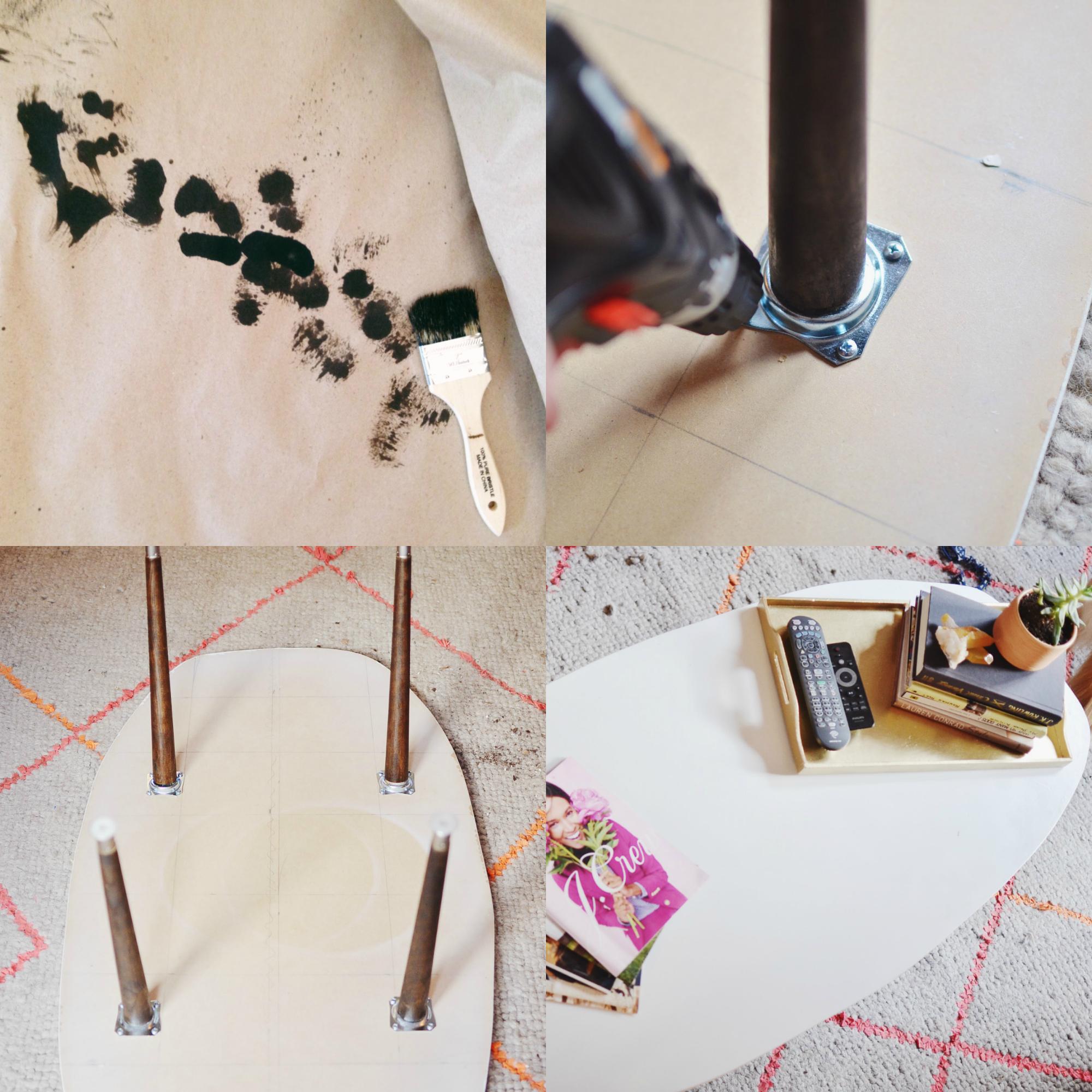 DIY Mid Century Coffee Table