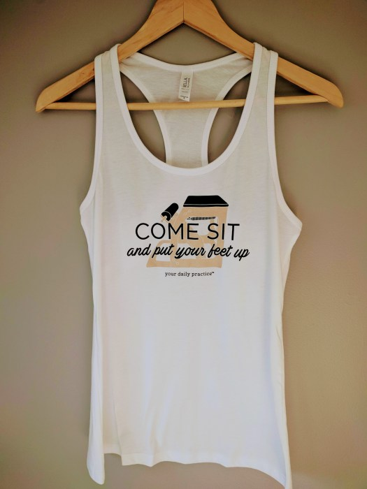 Come Sit Racerback Tank