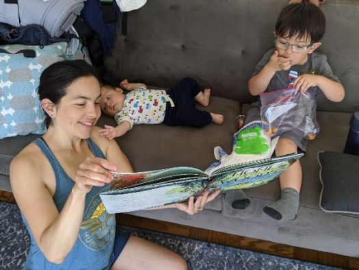 Reading with the kids