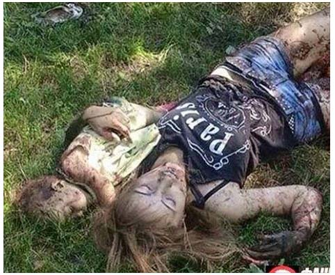 picture of mother and child killed by ukrainian cannon