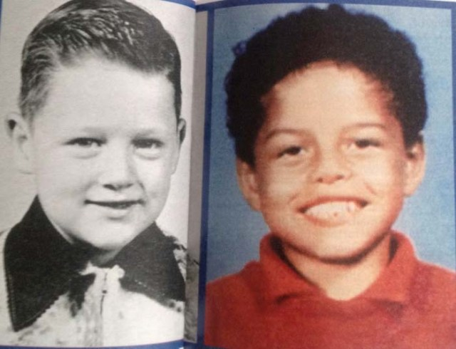 comparison between picture of young Clinton and picture of his alleged son