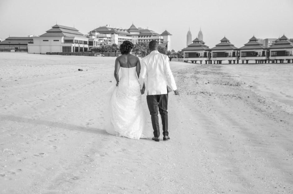 mr mrs wedding nigerian waldorf beach dubai